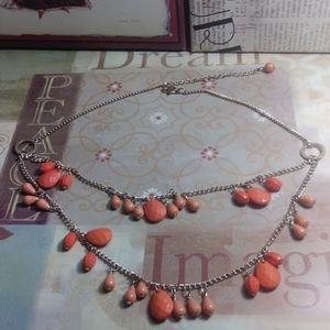 Vintage Peach bead necklace